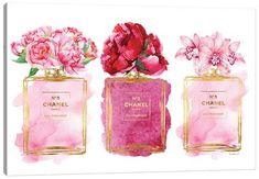 Chanel Wall Art, Canvas Prints & Paintings   iCanvas Canvas Artwork, Canvas Art Prints, Canvas Wall Art, Big Canvas, Uv Lack, Free Eternal Summer, Chanel Perfume, Pink Perfume, Bright Art