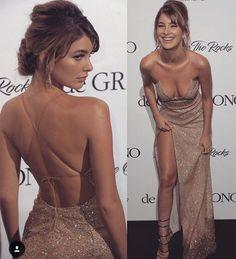 Backless Champagne Gold Sequin Prom Dress with Slit Backless Champagne Gold Pailletten Abendkleid mit Schlitz Matric Dance Dresses, Sequin Prom Dresses, Evening Dresses, Gold Prom Dresses, Backless Prom Dresses, Prom Gowns, Quinceanera Dresses, Long Ball Dresses, Prom Dresses Long Open Back