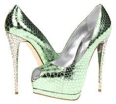 Top Picks in Women's Green Shoes for 2013: Giuseppe Zanotti 'E36136' - Stunning Designer Pumps in Green