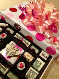 Candy  Box... Where the treats are $$$ Made for & Baseball raffle decor | My crafty #raffle boxed | poker night ... Aboutintivar.Com