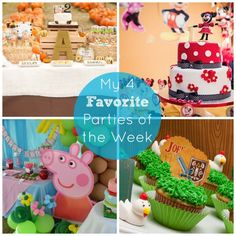 Check out my 4 favorite parties of the week from Catch My Party! #catchmyparty #partyplanning