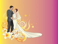 Bride and Groom Wedding Backgrounds