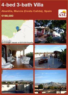 4-bed 3-bath Villa in Abanilla, Murcia (Costa Calida), Spain ►€198,000 #PropertyForSaleInSpain