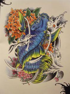 个性网-美图-鲤鱼_纹身图案大全图片