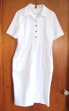 SALE Vintage White Cross Nursing Dress Uniform via Etsy