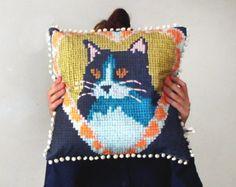 Cat Needlework Cushion