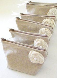Rustic Bridesmaid Clutches