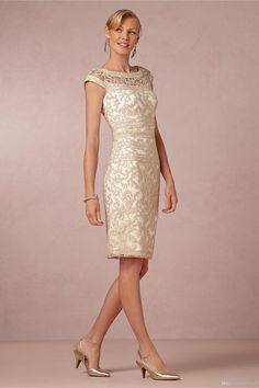 2014 Free shipping Column Scoop Knee Length Cap Sleeves Lace Zipper Mother of the Bride Dresses Handmade