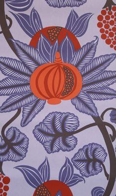Papier peint Maharani - Osborne and Little Painting Wallpaper, Fabric Wallpaper, Wall Wallpaper, Pattern Wallpaper, Wallpaper Ideas, Playroom Wallpaper, Textile Patterns, Textiles, Textile Prints