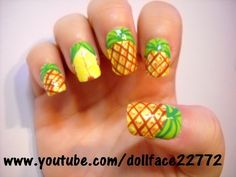 would be cute on big toes only with solid color green or yellow on the rest of toys...Pineapple toes!