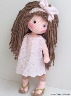 Photo-tutorial: Eyes for Crochet Doll Amigurumi Love Crochet, Beautiful Crochet, Crochet Baby, Knit Crochet, Amigurumi Doll, Amigurumi Patterns, Doll Patterns, Knitted Dolls, Crochet Dolls