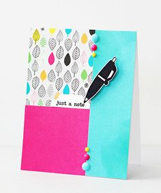 Card by SPARKS DT Erin Taylor PS stamp sets: Just a Note, We Totally Click; PS dies: Toppers