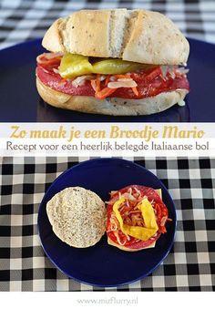 Recept om zelf een heerlijke Italiaanse bol te maken. Gevuld als een Broodje Mario, het lekkerste broodje uit Utrecht.