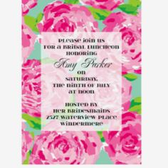 Lilly Pulitzer invites!