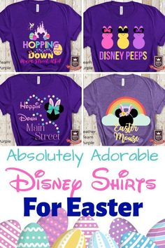 These shirts for Easter at Disney are so stinking adorable...check out the full list of Easter Disney Shirts! Disney Vacation Planning - Disney Bound - Disney Shirts