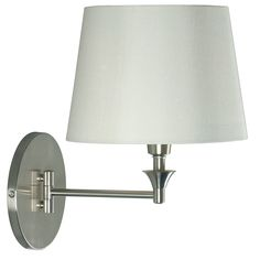 """Martina Wall Swing Arm 17"""" H Table Lamp with Empire Shade"""