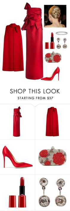 """""""Formal Beauty"""" by kotnourka ❤ liked on Polyvore featuring Dsquared2, Valentino, Gianvito Rossi, Santi, Giorgio Armani and Blue Nile"""
