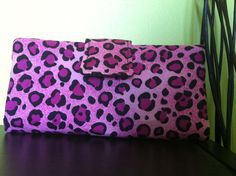Pink Leopard Wallet. $25.00, via Etsy.