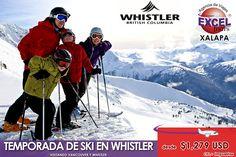Vamonos a esquiar a Whistler este invierno! Aprovecha los precios de pre-venta.Solicite información de fechas y precios de salidas y de paquetes de 3, 4 o 7 días, para viajar a partir del 4 de dic...