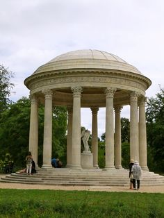 Temple of Love, built for Marie Antoinette, on the grounds of the Petit Trianon, Versailles, France.