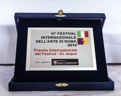 won the 6th International Art Festival of Rome Award /Italy July 2014