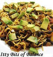 Shirataki Noodle Mexican Black Bean and Avocado Pasta