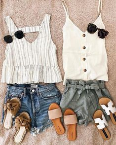 Great outfits for spring break. - Great outfits for spring break. Great outfits for spring break. Great outfits for spring break. Casual Summer Outfits Shorts, Classy Outfits, Chic Outfits, Spring Outfits, Trendy Outfits, Fashion Outfits, Summer Clothes, Outfit Summer, Women's Fashion
