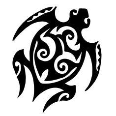tribal turtle tattoo // Tortue