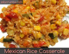 Mexican Rice Casserole @ jollycrumbs.com