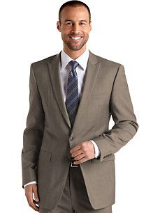 Some variation of this for my handsome man: Calvin Klein Taupe Extreme Slim-Fit Suit