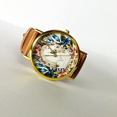 Cute! Vintage Horse Watch Vintage Style Leather Watch by FreeForme
