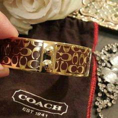 Hp Bnwot Coach 100% Auth Bracelet Bangle