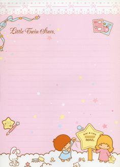 Little Twins Stras - Sanrio - Letter paper