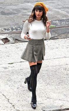 Lea Michele from The Big Picture: Today's Hot Pics The lovely actress shoots scenes for Glee in Los Angeles.