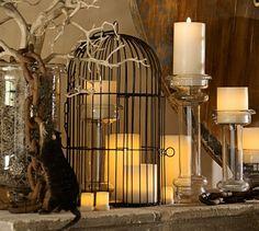 Birdcage Candlelight Centerpiece | Pottery Barn