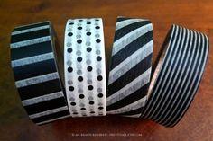 Black and white washi tape.