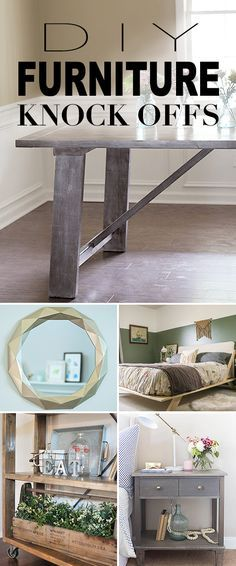 Best Diy Crafts Ideas For Your Home : DIY Furniture Knock Offs! A round-up of some of the best furniture knock-off Resin Patio Furniture, Diy Furniture Projects, Cool Diy Projects, Cheap Furniture, Furniture Makeover, Home Projects, Rustic Furniture, Furniture Decor, Furniture Online