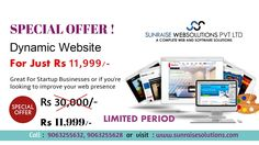 Great chance for all start up businesses. Get a dynamic website for just Rs.11,999/-. Limited time offer. Hurry up! For details contact: 9063255632, 9063255628