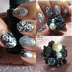 Nail art inspired ring