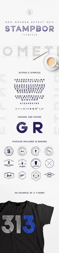 Stampbor Typeface #BestDesignResources