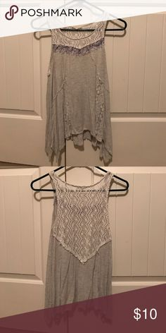 Boutique Lace tank top Slightly worn lace boutique flow-y tank top. Tops Tank Tops