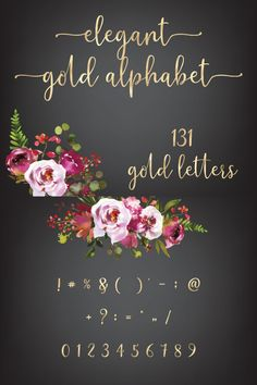 You will receive beautiful gold letters for every craft designs like invitations, branding & cardmaking. Gold Letters, Design Crafts, Gold Foil, Cardmaking, Alphabet, Clip Art, Branding, Invitations, Silver