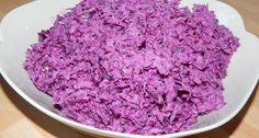Gyors lilakáposzta saláta recept | APRÓSÉF.HU - receptek képekkel Krispie Treats, Rice Krispies, Cabbage, Vegetables, Desserts, Food, Tailgate Desserts, Deserts, Essen