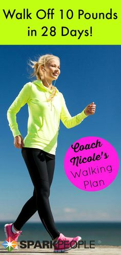 Walk off up to 10 pounds in 28 days with this easy-to-follow #walking plan! | via @SparkPeople