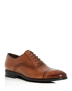 To Boot New York Men's Mezzo Leather Cap-Toe Brogue Oxfords Men - Bloomingdale's Suede Oxfords, Brown Oxfords, Brogues, Toe Shoes For Men, Cap Toe Shoes, Oxford Online, To Boot New York, New York Mens, Leather Cap