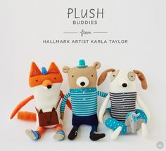 Artist-inspired Plush Collections from Hallmark | Artist: Karla Taylor | thinkmakeshareblog.com