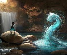 Image about water in Avatar the Last Airbender/Legend of Korra by Avatar Aang, Avatar The Last Airbender, Fantasy Magic, Fantasy World, Magic Art, Fantasy Artwork, Fantasy Creatures, Mythical Creatures, Character Inspiration