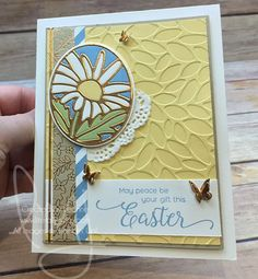 Are you ready for springtime? How about Easter? #suitesentiments #thatsthetag #stampinup #literallymyjoy #papercrafting #stampinupdemonstrator #daisy #copper #Easter #flowers #butterflies #petals #springtime #butterfly #2017OccasionsCatalog #linkinprofile