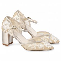 Shop wedding block heels that are perfect for summer-time outdoor garden weddings. Comfortable, stunning and handmade, shop these platform block bridal shoes! Wedding Shoes Block Heel, Wedding Shoes Heels, Bride Shoes, Block Heels, Bridal Heels, Future Mrs, Designer Wedding Shoes, Chelsea, Shoe Crafts
