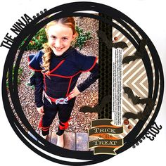 """The Ninja - Scrapbook.com - Made with Scrapbook.com Kit club kit for the month of October """"Trick or Treat Street"""""""